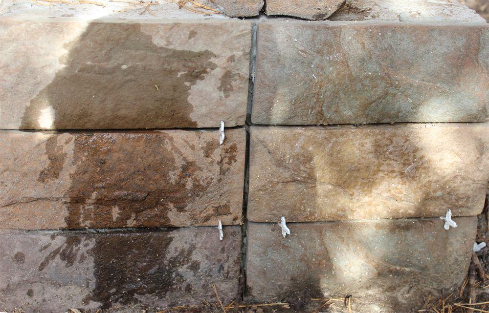 Натуральный камень, обработанный средством Remmers Funcosil SNL
