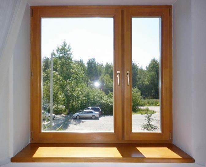Новое деревянное окно