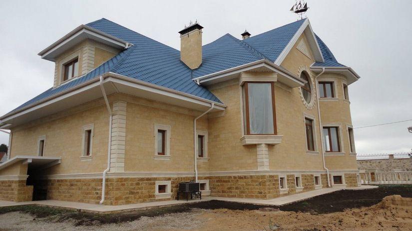Отделка цоколя жилого дома