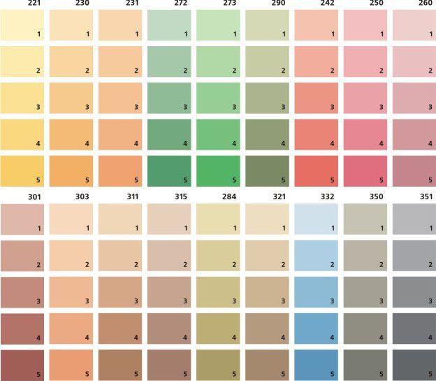 Оттенки красок