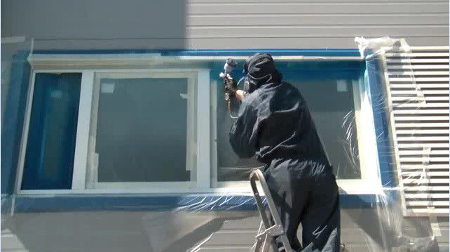 Покраска пластиковых окон своими руками