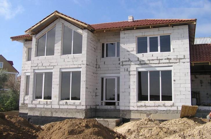Пример фасада до отделочных работ