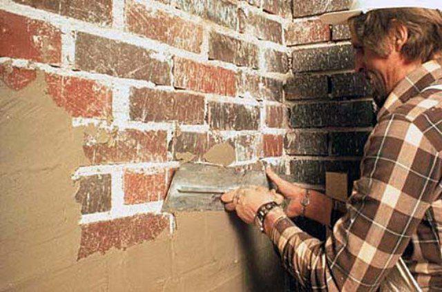 Штукатурка наружных кирпичных стен