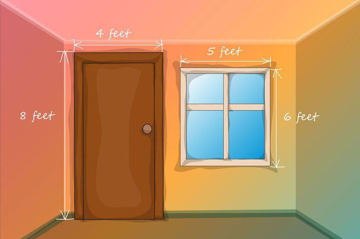 Сделайте замеры окна, чтобы узнать расход краски