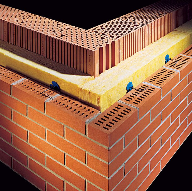 Схема облицовки фасада