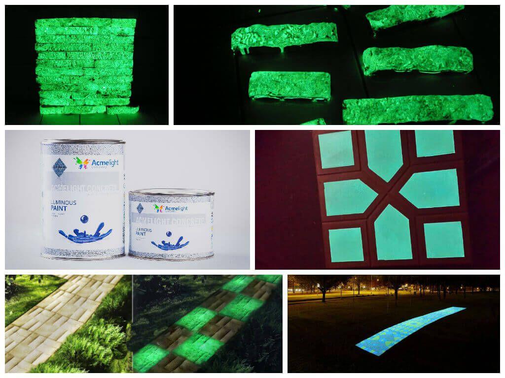 Светоотражающей краской можно красить и бетонные поверхности