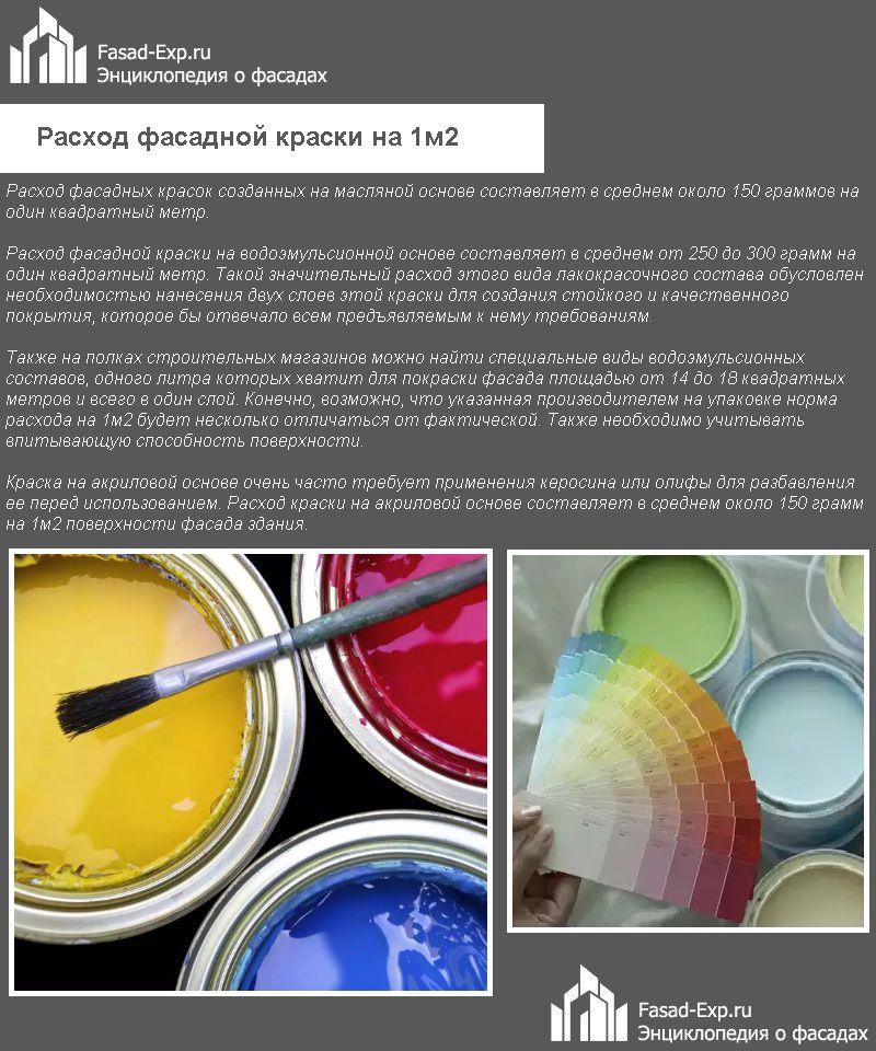 Расход фасадной краски на 1м2
