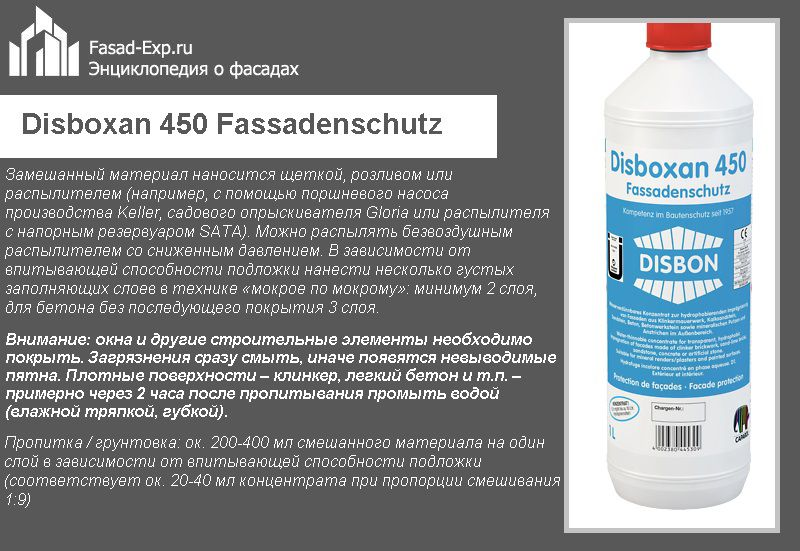 Disboxan 450 Fassadenschutz