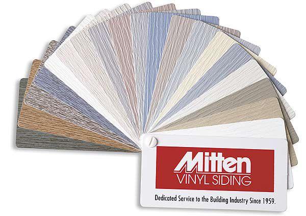 Цветовая гамма сайдинга Mitten Vinyl