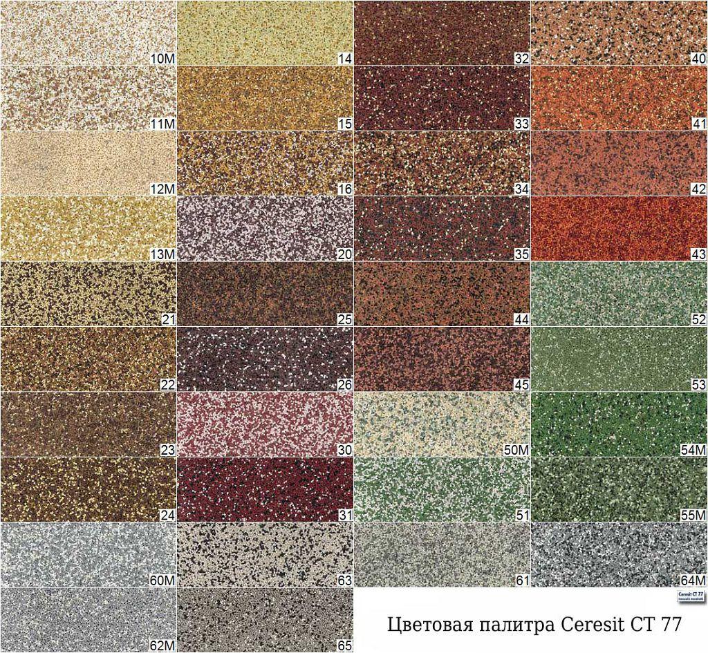 Цветовая палитра Ceresit CT 77