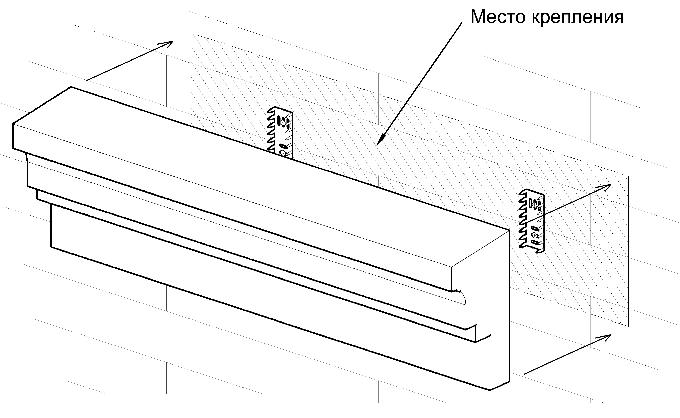 Два-три мультишипа монтируются на стену шипами наружу