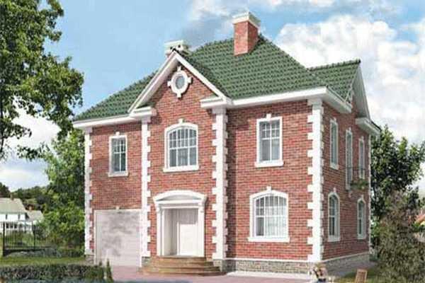 Фасад дома в английском стиле