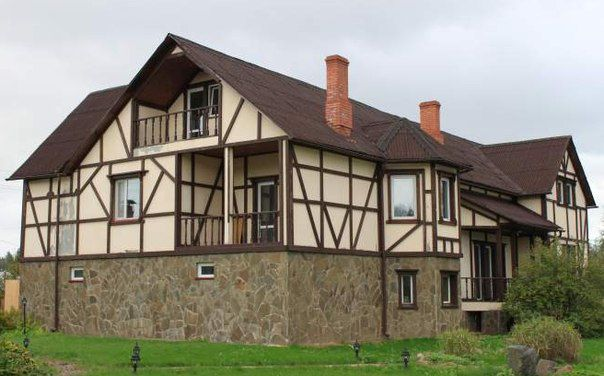 Фасад дома в немецком стиле