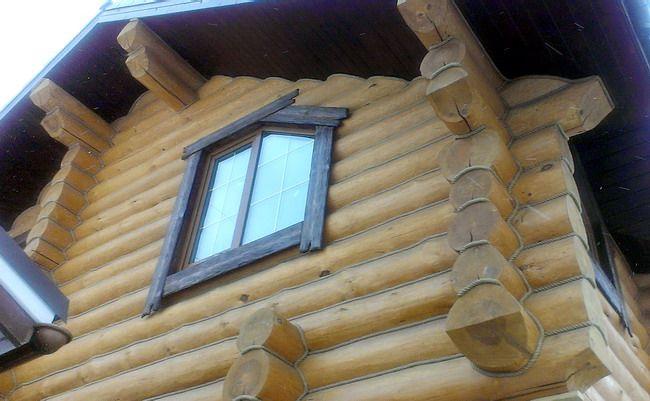 Фасад обработан грунтовкой Пинотекс