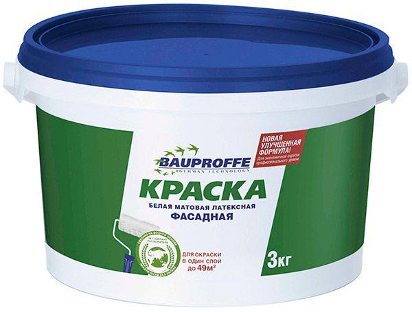 Фасадная белая матовая краска BAUPROFFE