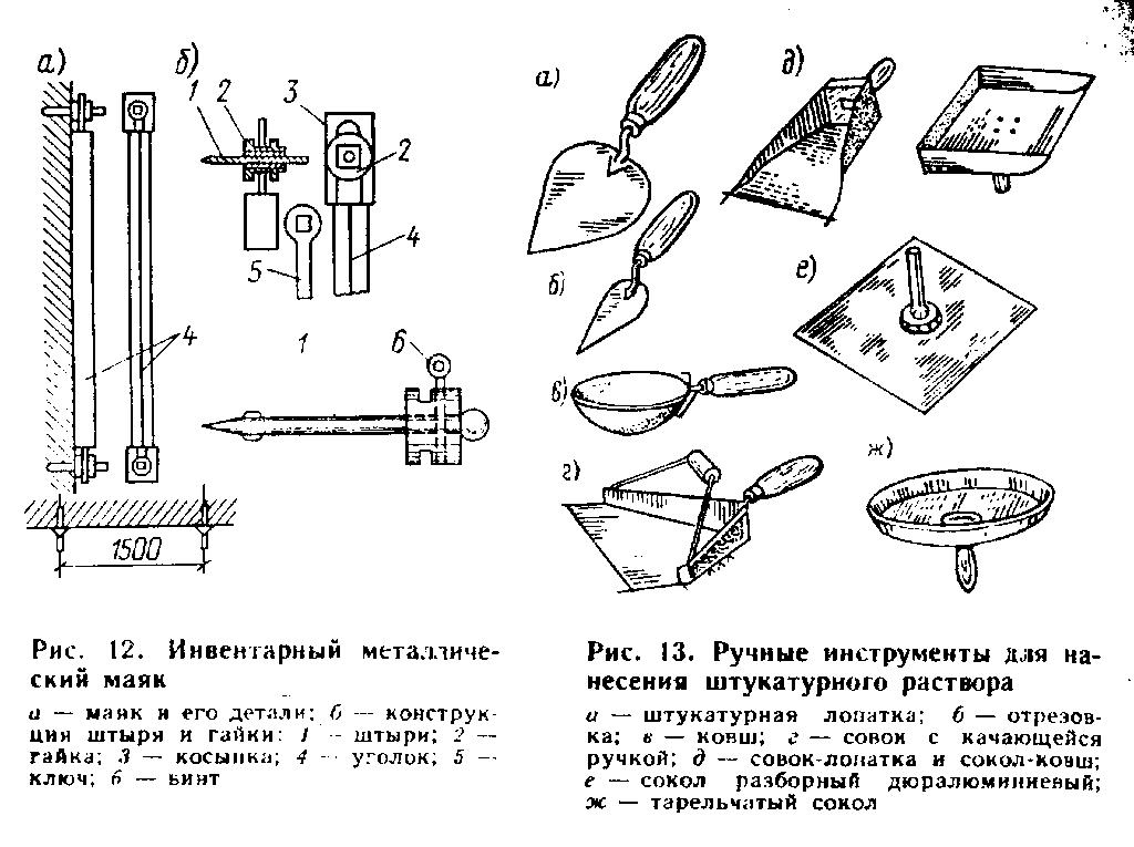 Инструмент для штукатурных работ