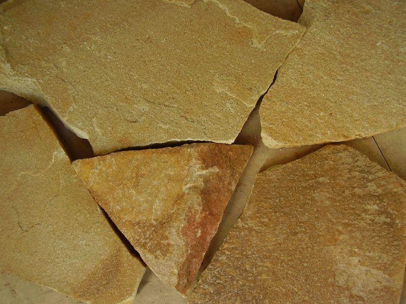 Камень природный облицовочный песчаник, цвет желтый
