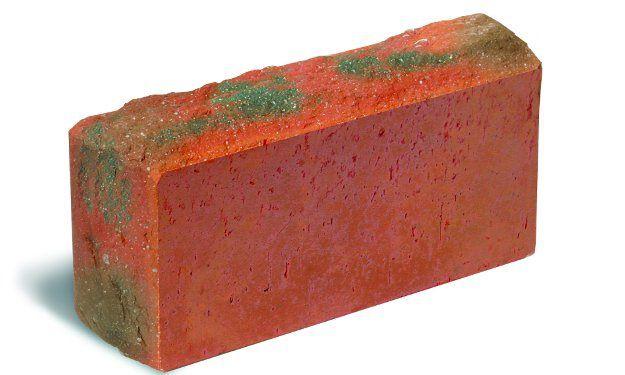 Кирпич лицевой(облицовочный) красный полнотелый колотый