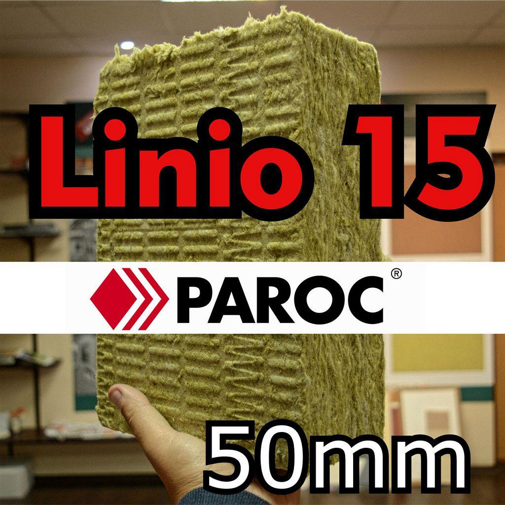 Минвата 50 мм Paroc Linio 15 базальтовая фасадная