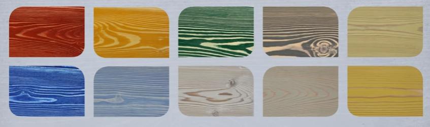 Можно выбрать любой понравившийся оттенок краски