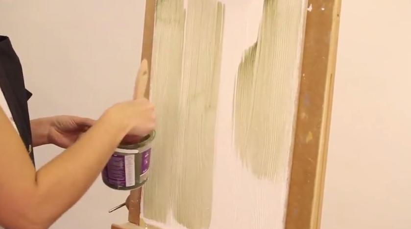 Нанесение краски, второй слой