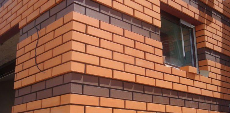 Облицовка кирпичом фасада дома