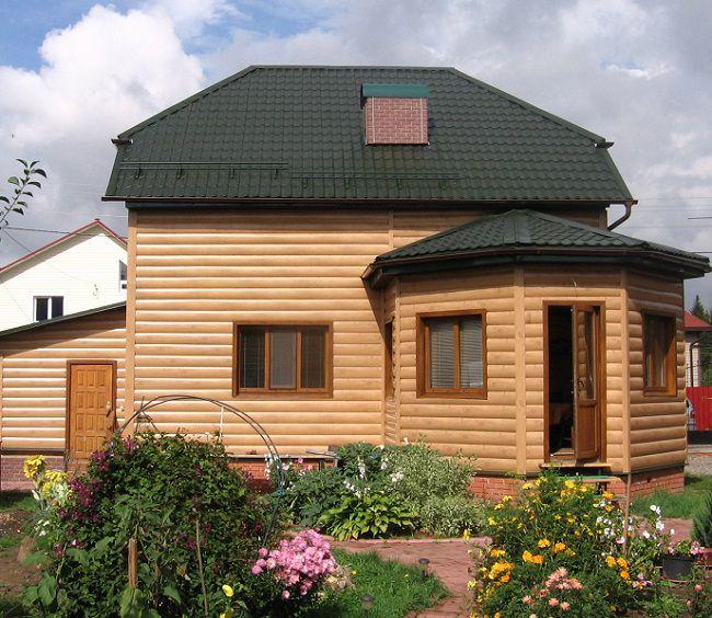 Обшивка дома блок хаусом металлическим