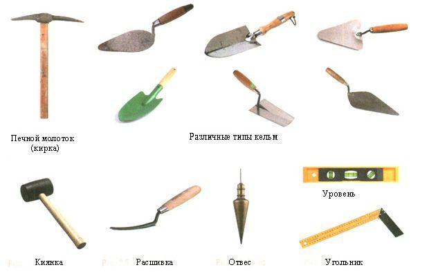 Основные инструменты для кладки кирпича