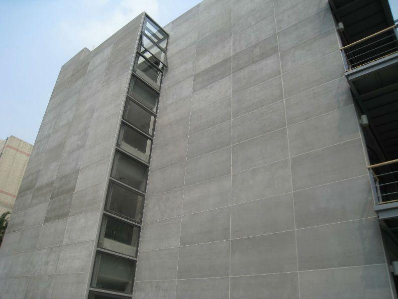 Отделка фасада ЦСП плитами - фото