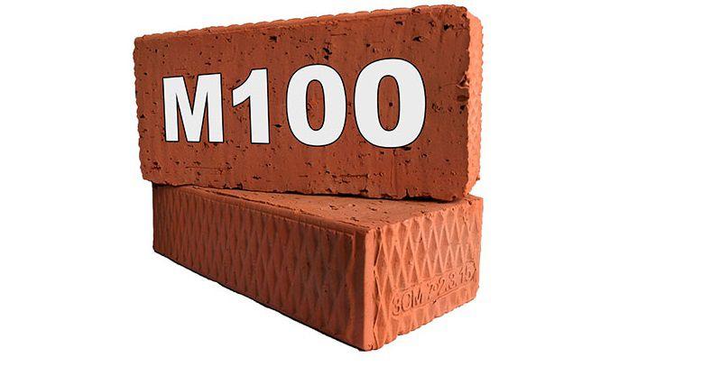 Полнотелый кирпич М100