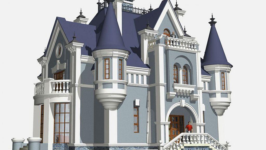 Проект готического особняка