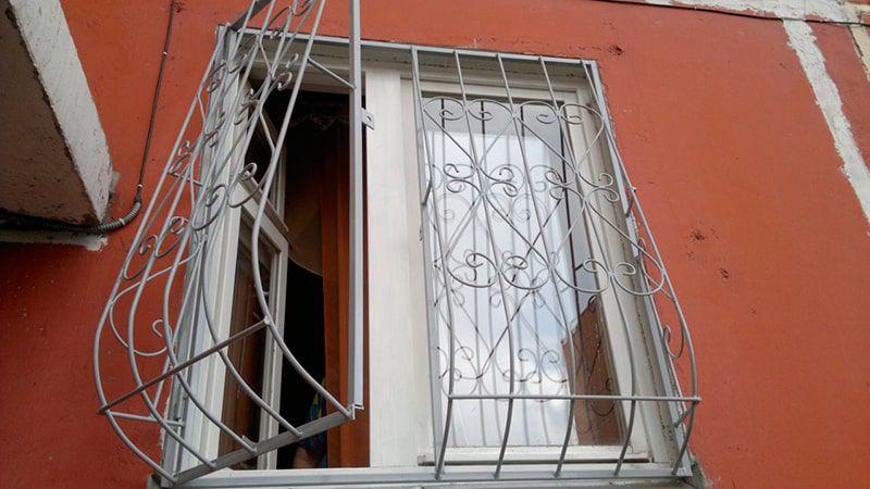 Кованые решетки на окна - порядок установки своими руками, п.