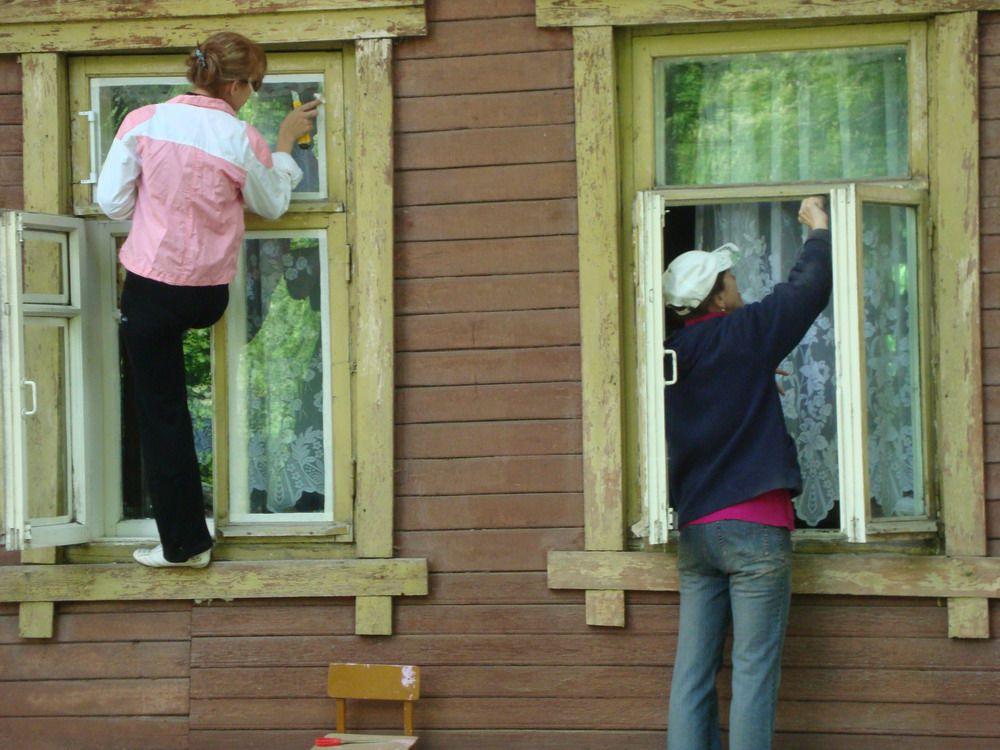 Реставрация деревянных окон - фото