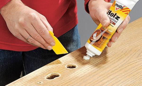 Шпатлевка деревянной поверхности