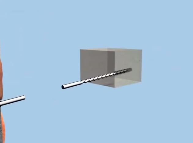 Сверление отверстия в пилястре