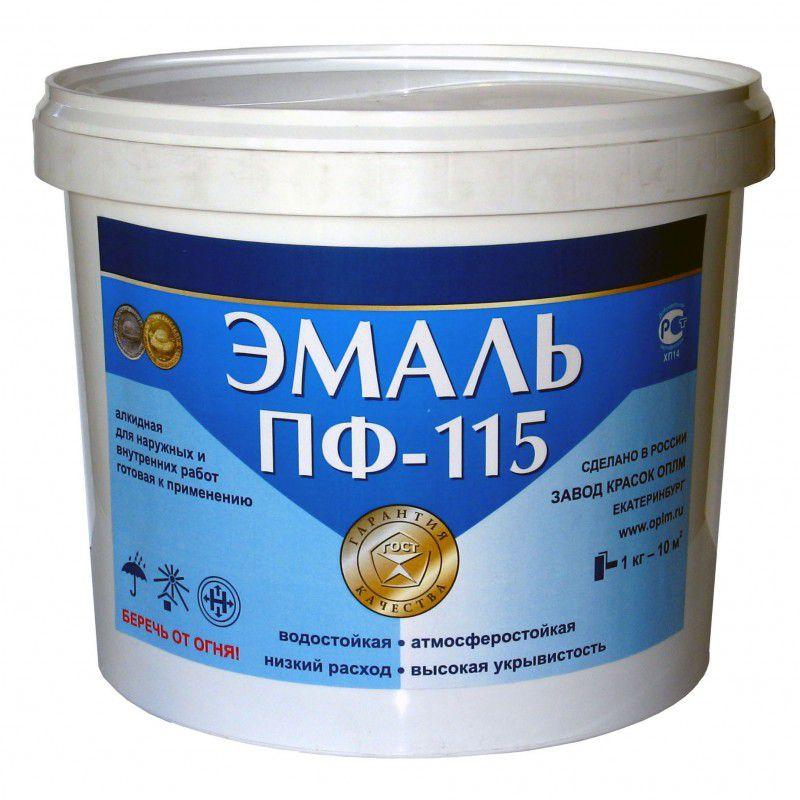 Эмаль ПФ-115, алкидная, для наружных и внутренних работ