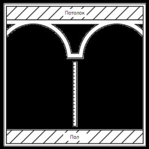 Замерьте высоту стен и при необходимости подгоните тело колонны