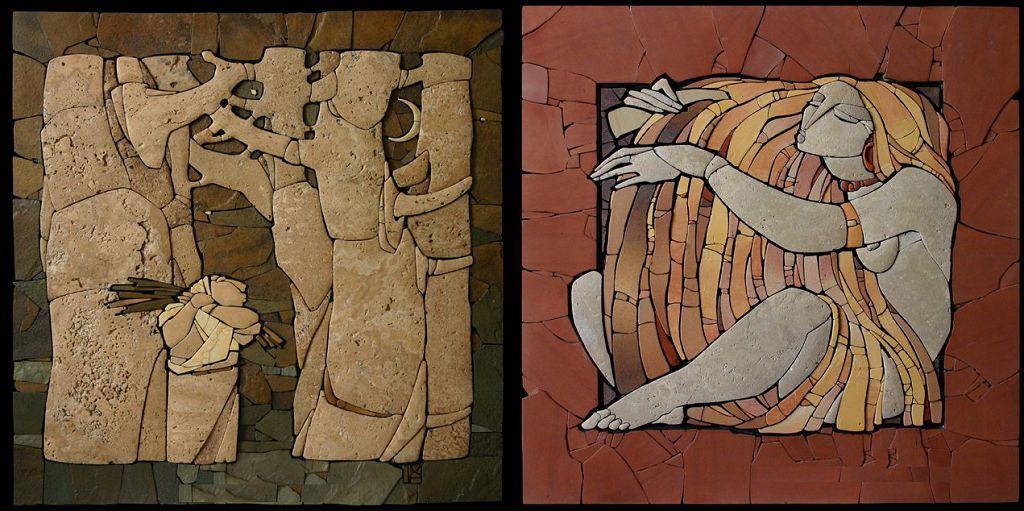 Пример выполненных работ. Мозаика из камня