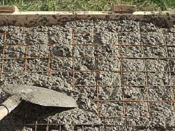Армирование и заливка бетона