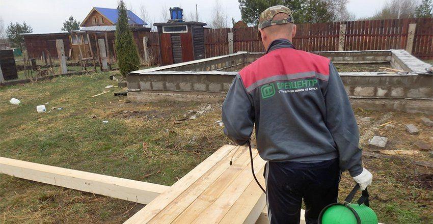 Биозащитная обработка древесины