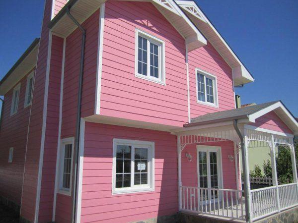 Бледно-розовый сайдинг
