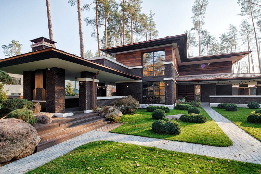 Дома в стиле Райта