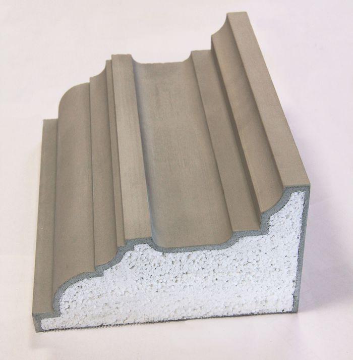 Фасадный декор с наполнителем из плотного пенополистерола, армированного сеткой из стекловолокна