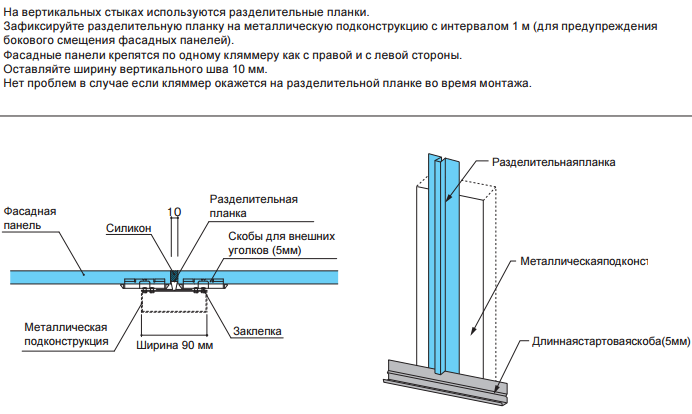 Монтаж вертикальных стыков