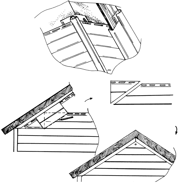 Монтаж винилового сайдинга на фронтон крыши