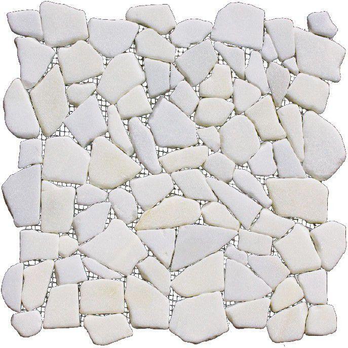 Мозаика на сетке, материал - мрамор