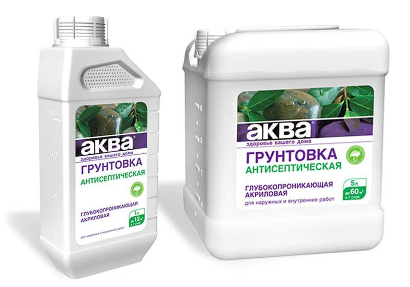 Нередко в продаже можно встретить акриловые проникающие грунты с антисептическими добавками