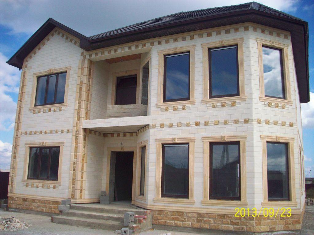 Облицовка домов дагестанским камнем