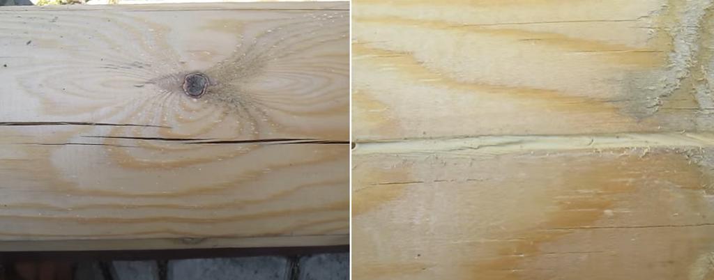 Отремонтируйте все трещины в древесине