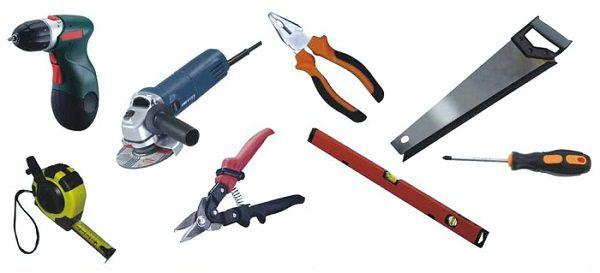 Примерный набор инструмента для монтажа панелей